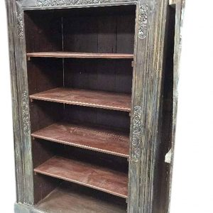 Modern Farmhouse Living Room Antique Indian Bookcase