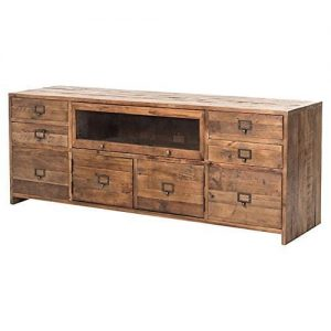 Kathy Kuo Home Gian Rustic Lodge Country Pine Media Console