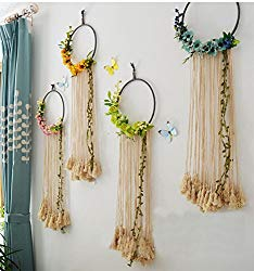 Handmade Dream Catcher with Macrame Fringe Boho Home Decor