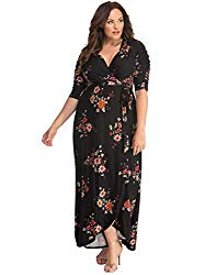 Hipster Fashion for Curves - Product Image - Kiyonna Plus Size Floral Maxi Dress