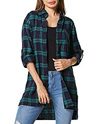 Hipster Fashion for Curves - Product Image - Loose Plaid Flannel Shirt