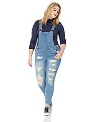 Hipster Fashion for Curves - Product Image - Plus Size Distressed Overalls