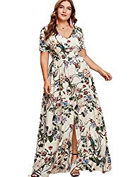 Hipster Fashion for Curves - Product Image - Plus Size Floral Print Maxi Dress