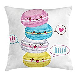 Product Image - Lunerable Macaroons Characters Throw Pillow
