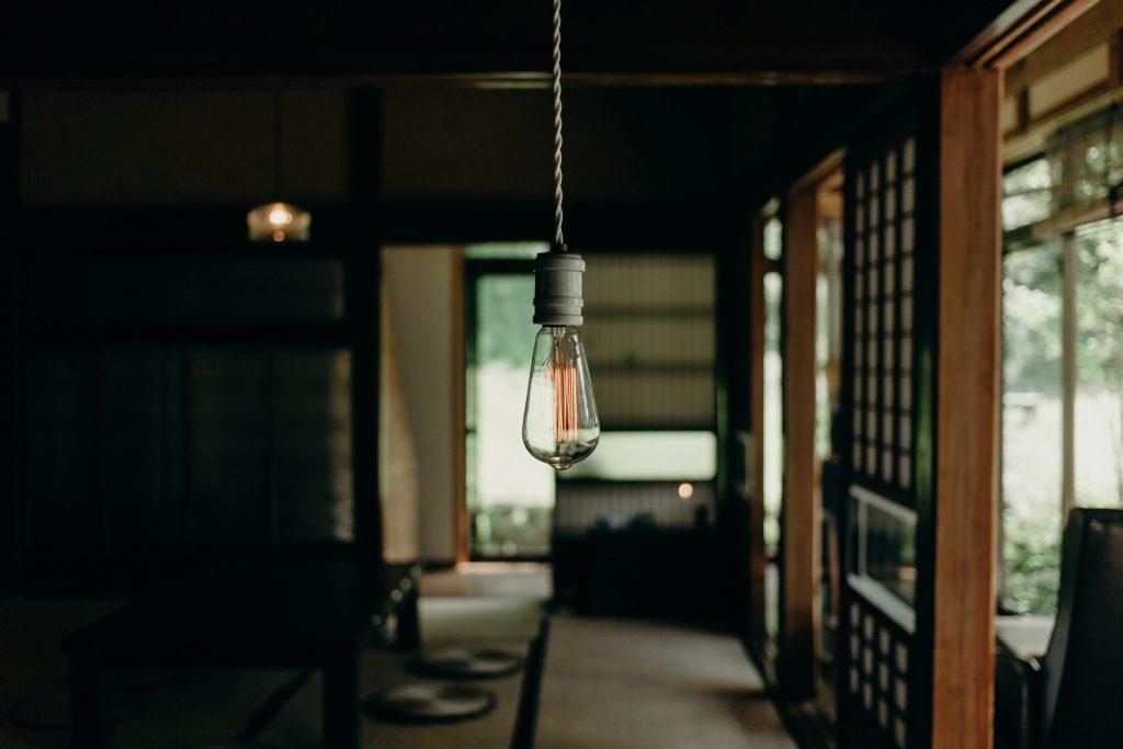 Wabi Sabi Design Naked Bulb