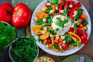 pegan diet recipes burrata salad