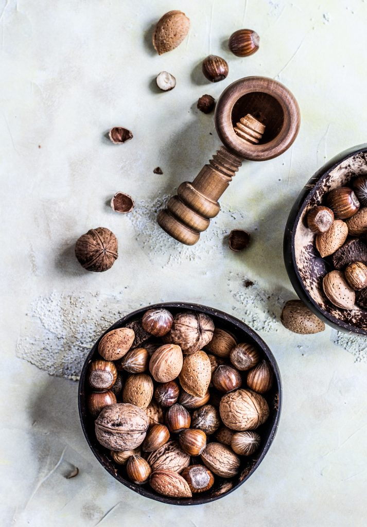 nut oils bowl of mixed nuts