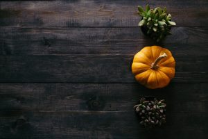 pumpkin seed oil pumpkins on table
