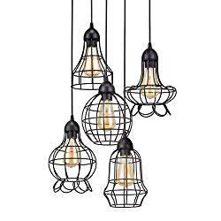 Cage Metal Multi Pendant Chandelier - Boho Style Home Decor