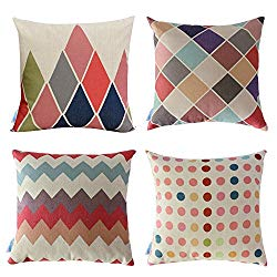Geometric Colorful Throw Pillows - Boho Style Home Decor
