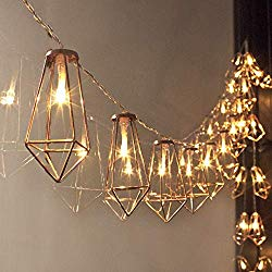 Gold Wire Cage Hanging Lights - Boho Style Home Decor