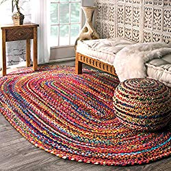 Hand Braided Bohemian Rug - Boho Style Home Decor
