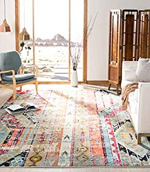 Modern Bohemian Distressed Area Rug - Boho Style Home Decor