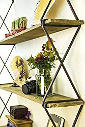 Rustic Floating Wood Shelves - Boho Style Home Decor