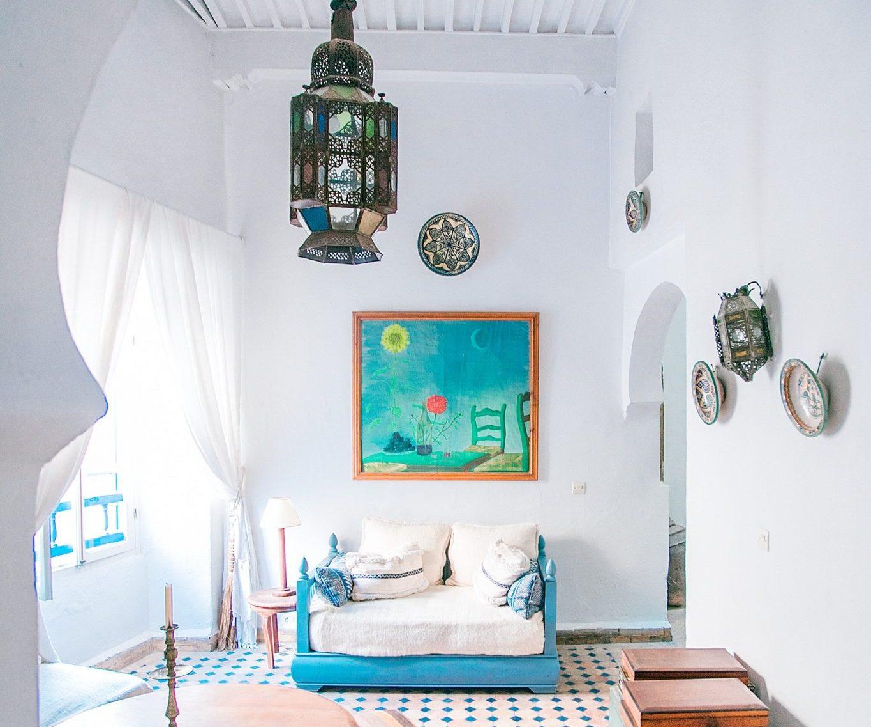 boho style home decor featured image