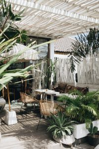 boho style home decor outdoor space