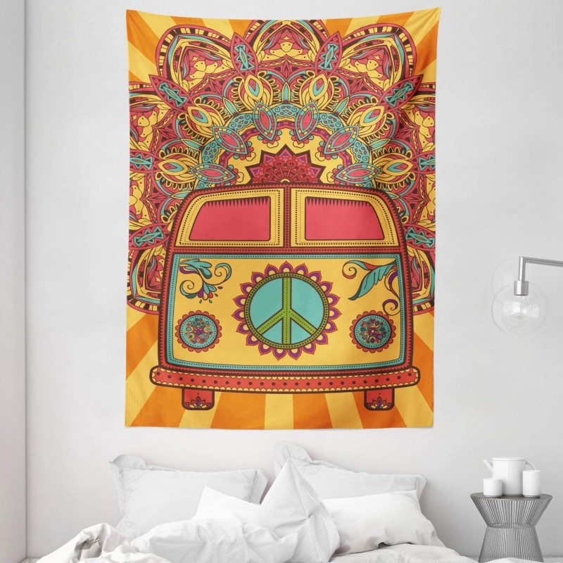 Hippie Vintage Mini Van Ornamental Backdrop